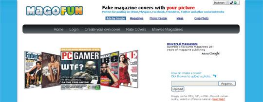 criar capa revista