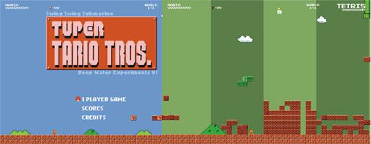 Mario Tetris Tuper Tario Tros