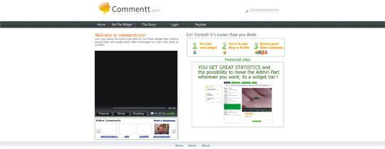 comentário vídeo áudio blogs