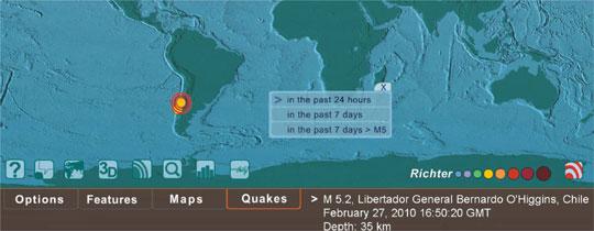 detectar terremotos online