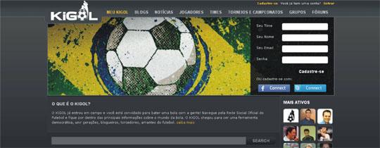 Rede social futebol Kigol