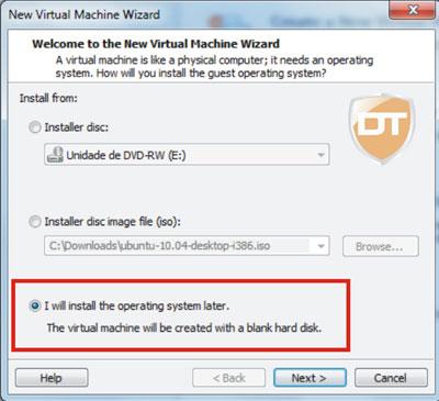 virtualização configuração