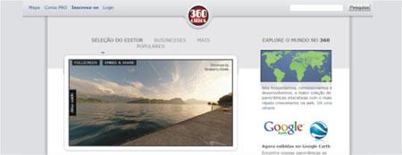 Veja imagens em 360º no site 360 Cities
