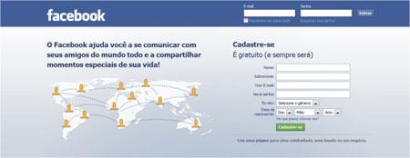 Criar perfil Facebook