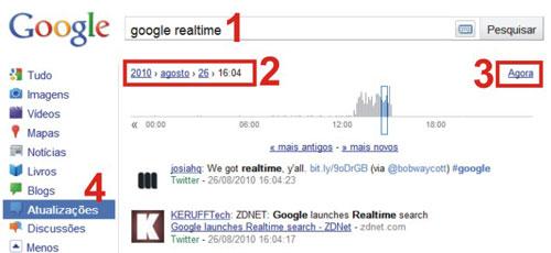 Pesquisa realtime Google