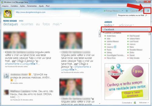 Novo visual MSN Messenger