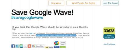 Save Google Wave