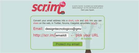 compartilhar email receber spams