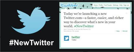 mudanças Novo Twitter