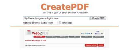 Ferramenta para converter site em PDF