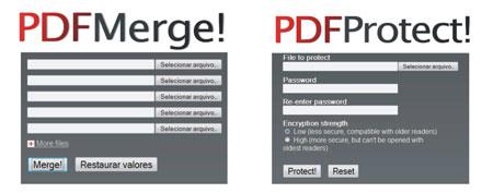 Juntar pdfs colocar senha