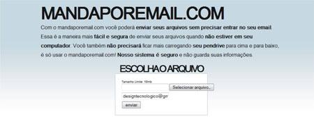 Enviar email sem senha