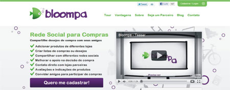Bloompa plataforma social compras
