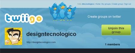 Criar grupo seguir perfis Twitter