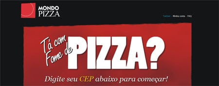 Pedido  pizza internet