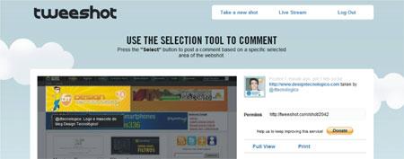 Gerar screenshot sites blogs Twitter