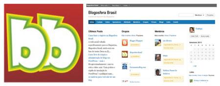 Rede social blogueiros Blogosfera Brasil