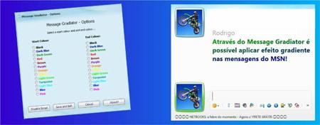 Efeito gradiente degradê MSN