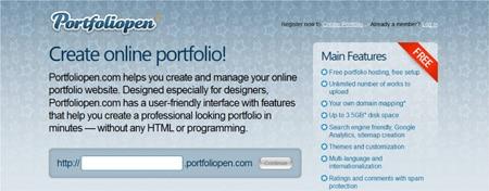 Criar portfolio online Portfoliopen