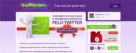 Realizar promoções Twitter Twitquero