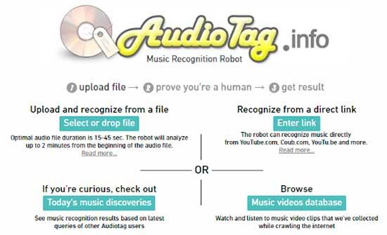 Descubra o nome de uma música enviando um arquivo mp3 de áudio