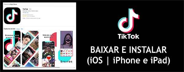 Baixar e Instalar TikTok iOS iPhone iPad