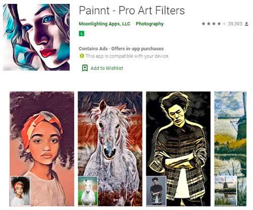 Aplicativo Painnt Pro de Desenhos
