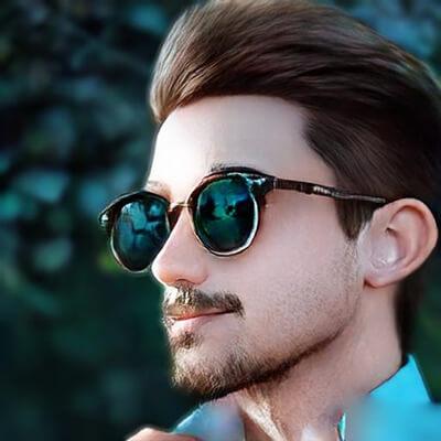 Desenho masculino com óculos para Whatsapp